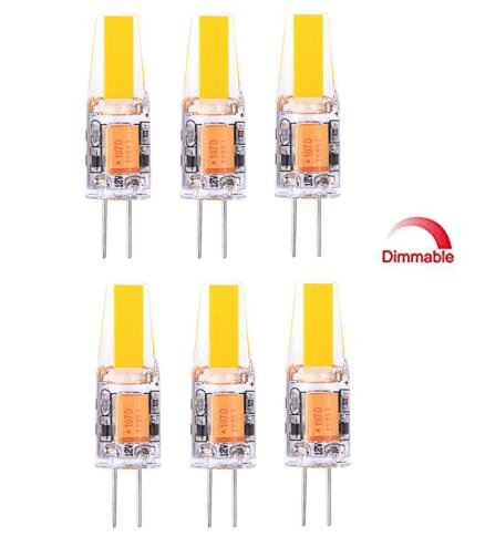 Best to Buy® Dimbare G4 LED-lamp - pak van 10 G4 LED-lampen 6W 430 lumen [Vervangt halogeenlampen van 20W-22W, AC/DC 12V, warm wit, 360° stralingshoek] G4 LED-lampen