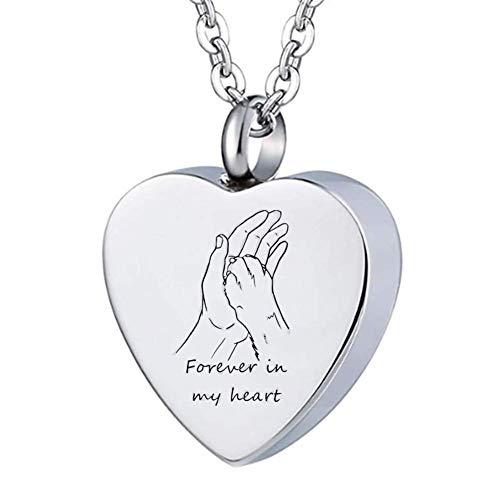 ForeverWill Collar de urna de cremación para mascotas, para cenizas en la mano, de acero...