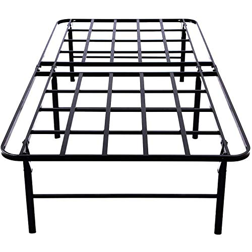 16 Inch Metal Bed Frame Twin XL/No Box Spring Needed/Full Platform Mattress Frame/Sturdy Steel Frame/Underbed Storage