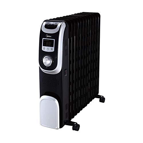 Midea 2500W Ölradiator NY2513-13A1L / elektrischer energiesparender Heizkörper / 13 Rippen / 24 Std. Timer/Schnellheizfunktion/Überhitzungsschutz