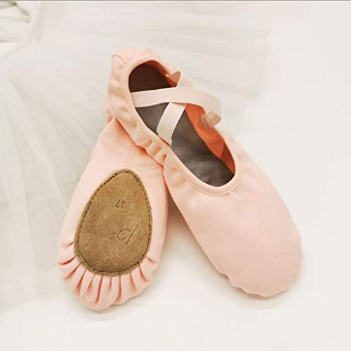 zxb-shop Ballet Shoe Adult Children's Ballet Shoes Soft-Soled Gymnastics Yoga Body Shoes Men and Women Leather Toe Two-Soled Shoes Dance Shoes (Color : B, Size : 38)