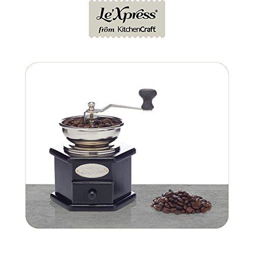 Kitchen Craft KCLXGRIND5 Kaffeemühle, schwarz/silber