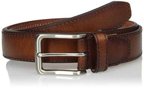 Fossil Men's Griffin Leather Belt, Cognac, Size 36