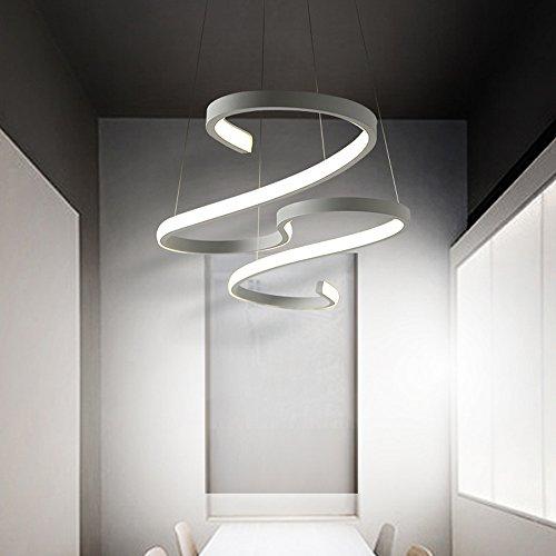 Leuchter Deckenleuchte spiralförmig – Moderne Designer-Lampe mit LED-Lichtleisten – aluminum-Leuchte für die Wohnzimmer-kronleuchter in einem gemütlichen