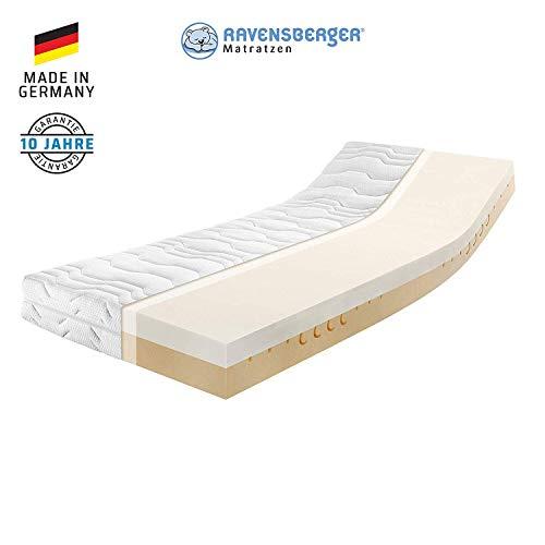 RAVENSBERGER Duo-VISCO® 80 Thermoelastische Premium-Visco-Matratze H2/3 RG 80/50 (50-110kg) Made IN Germany 10 Jahre Garantie MEDICORE silverline®-Bezug 160 x 220 cm