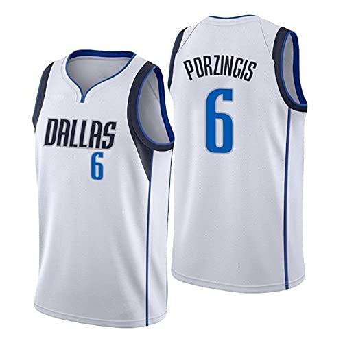 AGLT 2021 NBA Hombre Basketball Jersey,Lone Ranger n#6 Ropa de Baloncesto,Camisetas Al Aire Libre Casual Mujer Redondo CháNdales,3,M