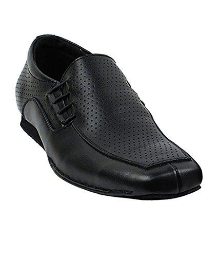 Very Fine Ballroom Latin Tango Salsa Dance Shoes for Men SERO102BBX Leather - Flate Heel - Black Peforated Leather - 9