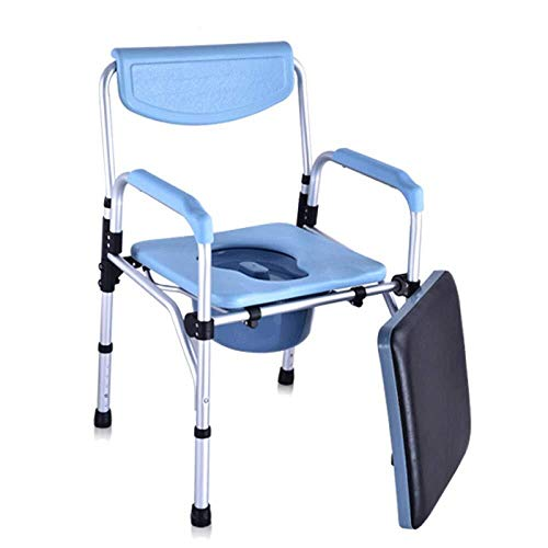 Bathroom Wheelchairs RRH Bedside Commodes Wheelchairs Commode Aluminum Alloy Old Man Toilet Seat Mobile Pregnant Woman Bathroom Bath Height Adjustable,Blue