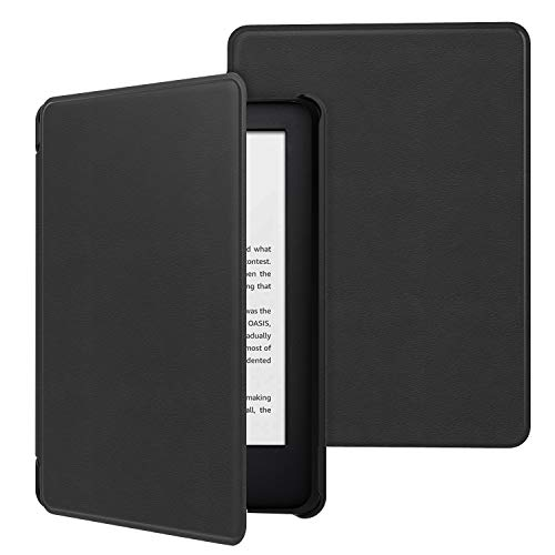 MoKo Funda Compatible con Kindle 10th Generation 2019 Release (Modelo No J9G29R), Ultra Delgada Ligera Smart-Shell Soporte Cover Case (No para Kindle Paperwhite) - Negro