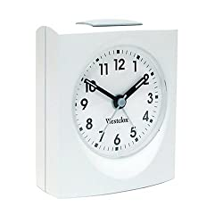 Westclox 47309 Echo Analog White Quartz Alarm Clock 47309