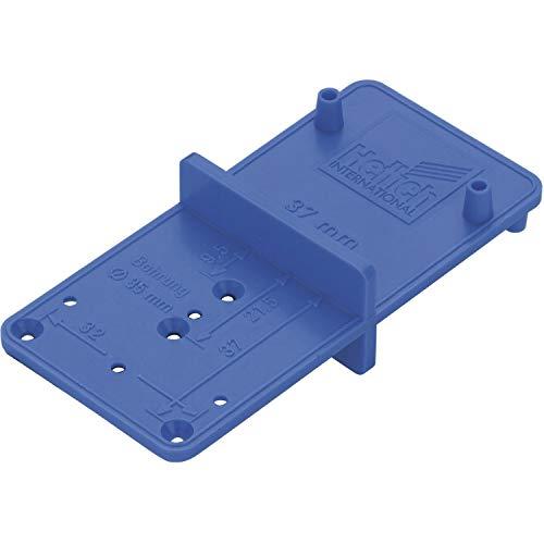 Gedotec Bohr-Hilfe zum Montieren Bohrschablone bohren Ersatz-Bohrlehre kompakt - ACCURA TOP MultiBlue 351 | Kunststoff blau | zweiseitig | 1 Stück