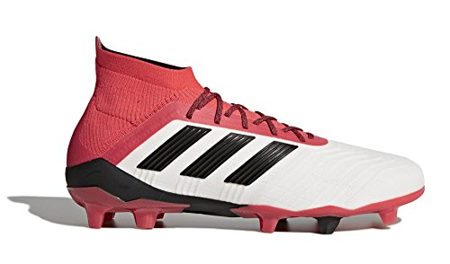 adidas Mens Predator 18.1 Firm Ground Soccer Casual Cleats, Red;White, 8