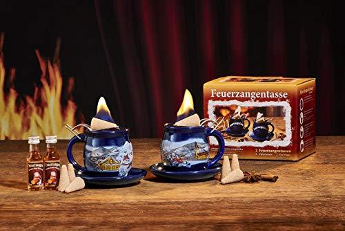 Feuerzangentasse 2er-Set, Blau/Winter (mit Rum) - für Feuerzangenbowle