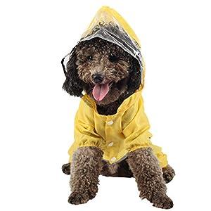 Coomour Dog Raincoats Pet Adjustable Dinosaur Rain Pomcho Cute Waterproof Hoodies for Small Medium Large Cats Dogs