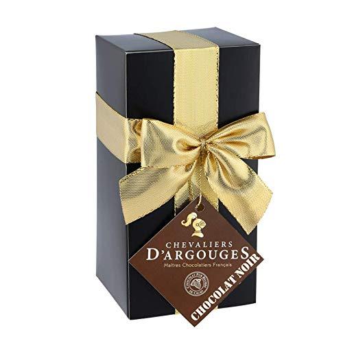 Chevaliers d'Argouges - Assortiment de chocolats noir 70% - Ballotin cadeau - 185g