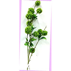 Artificial Snowball Flower Spray Stem Green 34″ Tall Artificial Flowers Bouquet Realistic Flower Arrangements Craft Art Decor Plant for Party Home Wedding Decoration