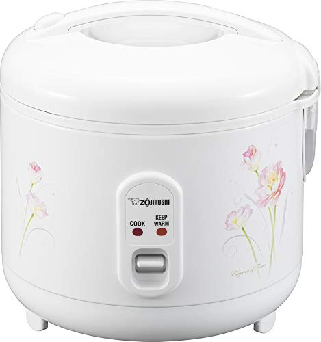 Zojirushi NS-RPC10FJ Rice Cooker and Warmer, 5.5-Cup (Uncooked), Tulip