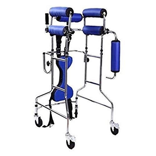 LWDDT Walker Stehen Laufgestell, High-Carbon Stahl Rollstuhl-Ausrüstung Mit Verstellbarer Sitzhöhe for Behinderte Untere Extremität