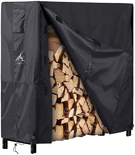 Himal Log Rack Cover Waterproof Firewood Cover Fit 4FT Wood Rack