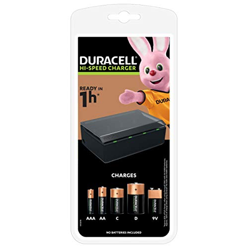 Duracell - Chargeur de Piles AA, AAA, C, D - 1 heure de charge