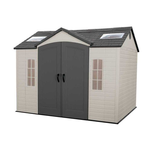 LIFETIME 60005 Outdoor Storage Shed with Windows, Skylights and Shelving, 8 by 10 Feet -  Lifetime Products