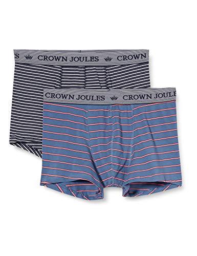 Joules Herren Crown 2pk Boxershorts, Streifen Duo, XL