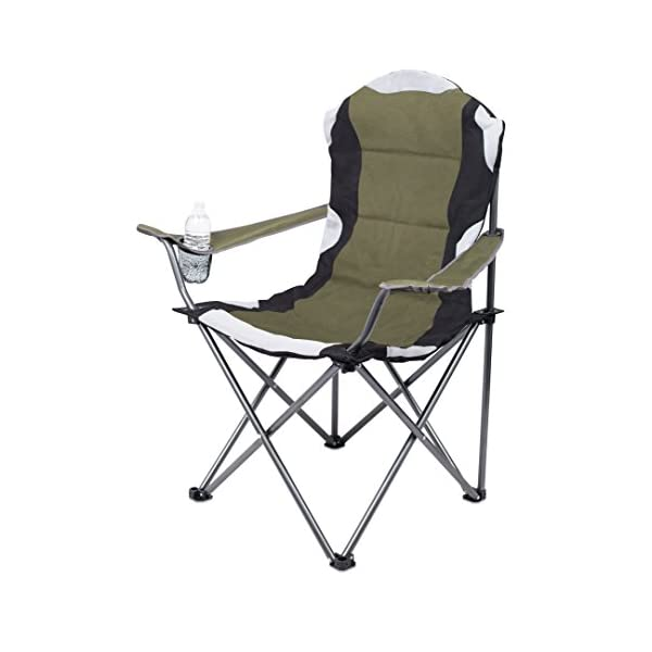 Internet's Best Padded Camping Folding Chair – Outdoor – Sports – Cup Holder – Comfortable – Carry Bag – Beach – Quad