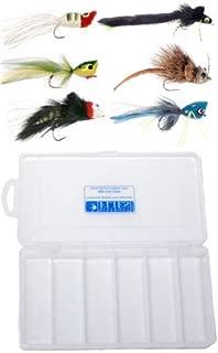 Top Water Bass & Pike Fly Assortment - 6 Flies + Fly Box