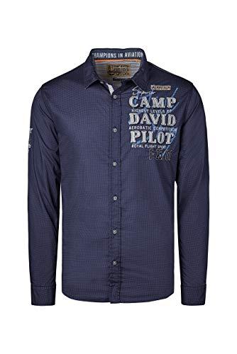 Camp David Herren Hemd mit filigranem Musterprint