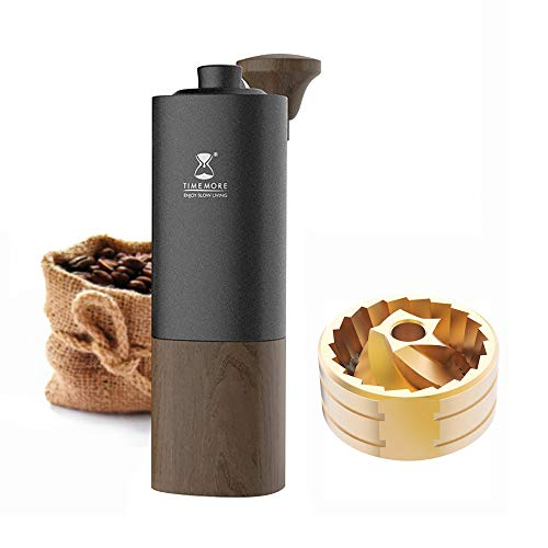 TIMEMORE G1 Manual Coffee Grinder Upgrade Titanium Burr Adjust coarseness Point by point Capacity 30g Espresso to Coarse