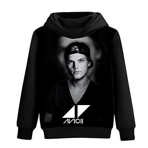 DJ Avicii Pullover Hoodie der Männer stilvolle Printed Freizeit Pullover Herbst-Winter-T-Shirt Unisex (Color : A03, Size : Height-170cm(Tag M))