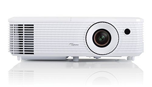 Optoma HD27 - Proyector, Full HD 1080p, 3200 ANSI Lúmenes, FHD, 2x HDMI, soporte MHL, altavoz integrado de 10 W, color blanco