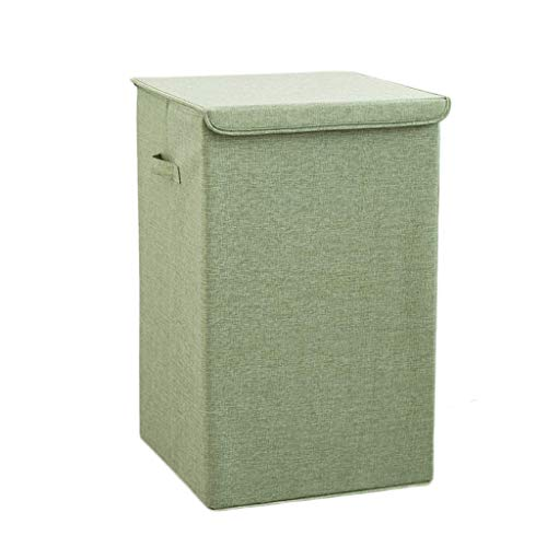 XXSHN Basket Laundry Baskets Foldable Polyester Waterproof Dirty Hamper Clothes Sundries Storage Basket,Green,34 * 34 * 58Cm