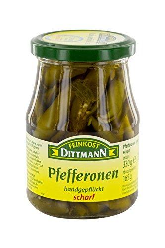 Feinkost Dittmann Pfefferonen scharf, 165g