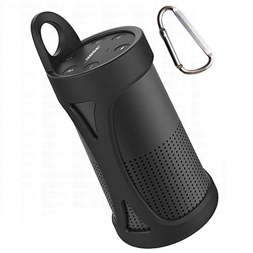 KOKAKO Silikon Tragetasche Tasche für Bose SoundLink Revolve(schwarz)