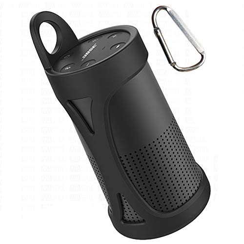 KOKAKO Silikon Tragetasche Tasche für Bose So&Link Revolve(schwarz)