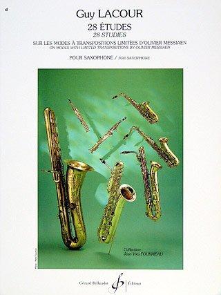 28 ETUDES (MESSIAEN) - arrangiert für Saxophon [Noten / Sheetmusic] Komponist: LACOUR GUY