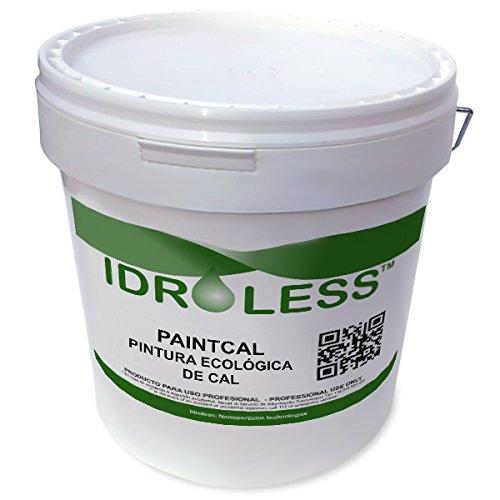 paintcal: pittura di Cal ecologico impermeabile idroless–25kg, interni, bianco