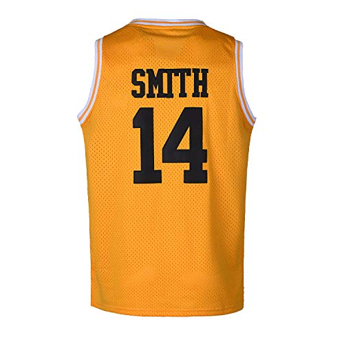 CAIYOO Mens #14 Basketball Jersey 90S Hip Hop Clothing for Party Stitched Letters and Numbers S-3XL (Yellow, Medium)