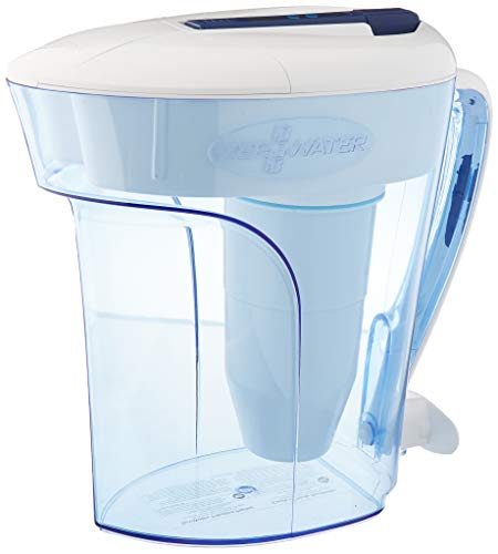 ZeroWater 12-Cup Ready-Pour Pitcher with Free TDS Meter (Total Dissolved Solids) ZD-012RP, Blue