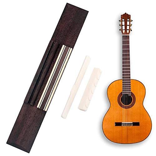Palisander Gitarre Brücke + Rinder Knochen Gitarre Mutter + Rinder Knochen Gitarre Sattel Für Klassische Gitarre Zubehör