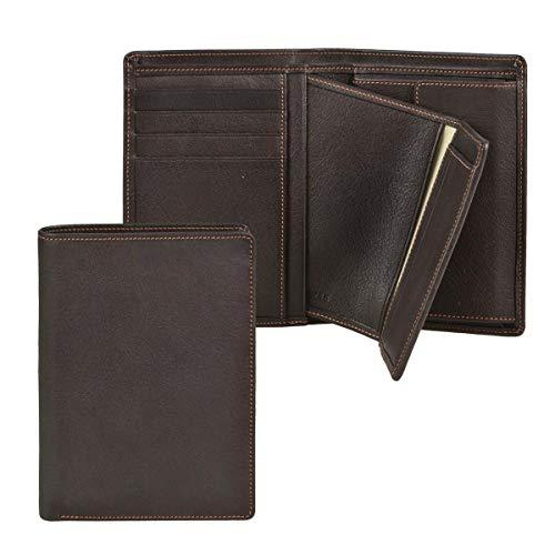 Sonnenleder Geldbörse Leder mit herausnehmbarem Ausweisetui Herren Damen Portemonnaie Geldbeutel RHEIN Mocca braun