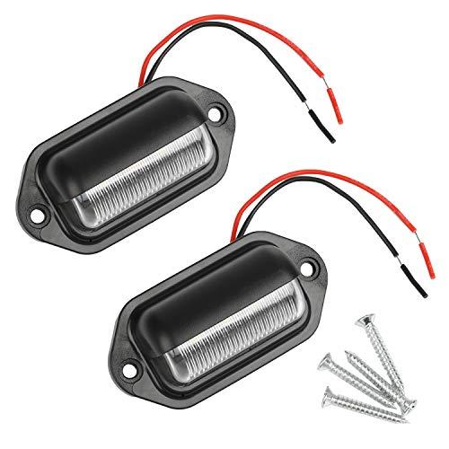 Thlevel 2PCS LED Kennzeichenbeleuchtung 6 SMD LED Lizenz Kennzeichenleuchte Nummernschildbeleuchtung Nummernschildleuchte für 12V/ 24V PKW, Anhänger, LKW, Wohnwagen