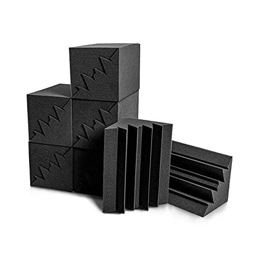 Bass Trap 12 Stück für Verbessern Sie den Niederfrequenzgang, 12x12x24cm, Bass Absorber für Heimkino, Musikzimmer