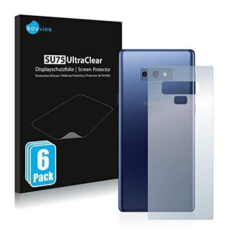 savvies 6-Pezzi Pellicola Protettiva Compatibile con Samsung Galaxy Note 9 (Posteriore) Protezione Schermo Trasparente