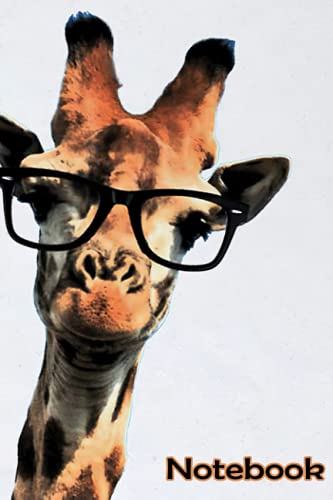 Hipster Giraffe Tumblr Notebook: - 110 Pages, In Lines, 6 x 9 Inches