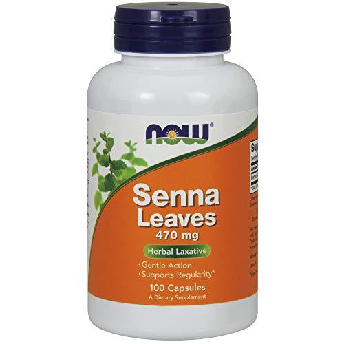 Now Foods Las hojas de sen, 470 mg - 100 vcaps 100 Unidades 90 g