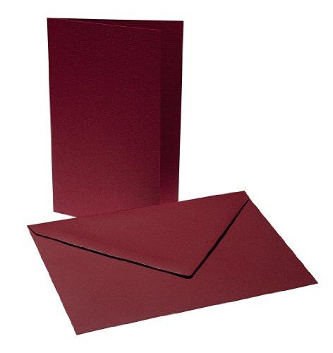 Falkarten mit Umschlägen B6 - Dunkel Rot