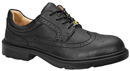 ELTEN Sicherheitsschuhe OFFICER XW ESD S2, Herren, Business, leicht, schwarz, Stahlkappe - Größe 42