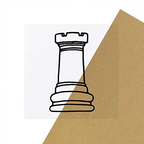 6 x 'Turm Schachfigur' Transparente Aufkleber / Stickers (SK00031128)